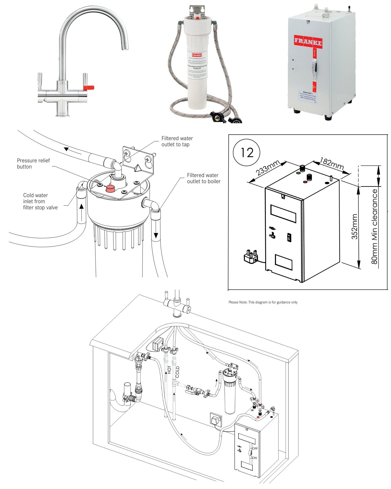 Franke Omni 4 In 1 Instant Boiling Water Kettle Kitchen