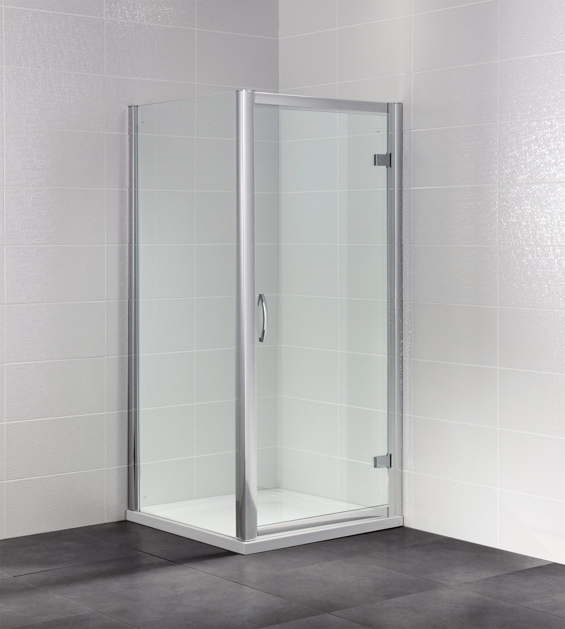 April Identiti2 1900mm High Semi Frameless Hinged Shower Door