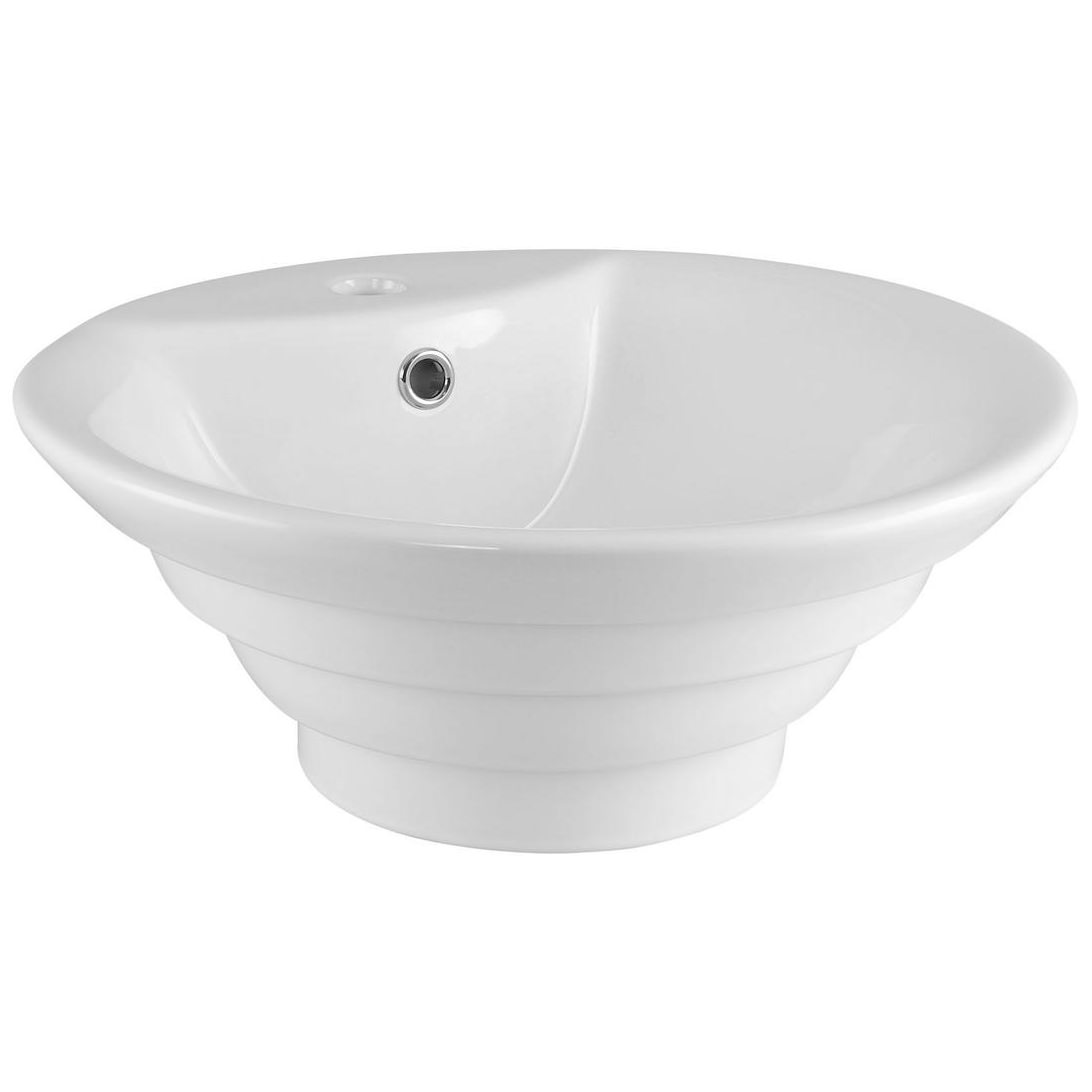 nuie 460mm round counter top vessel basin with overflow