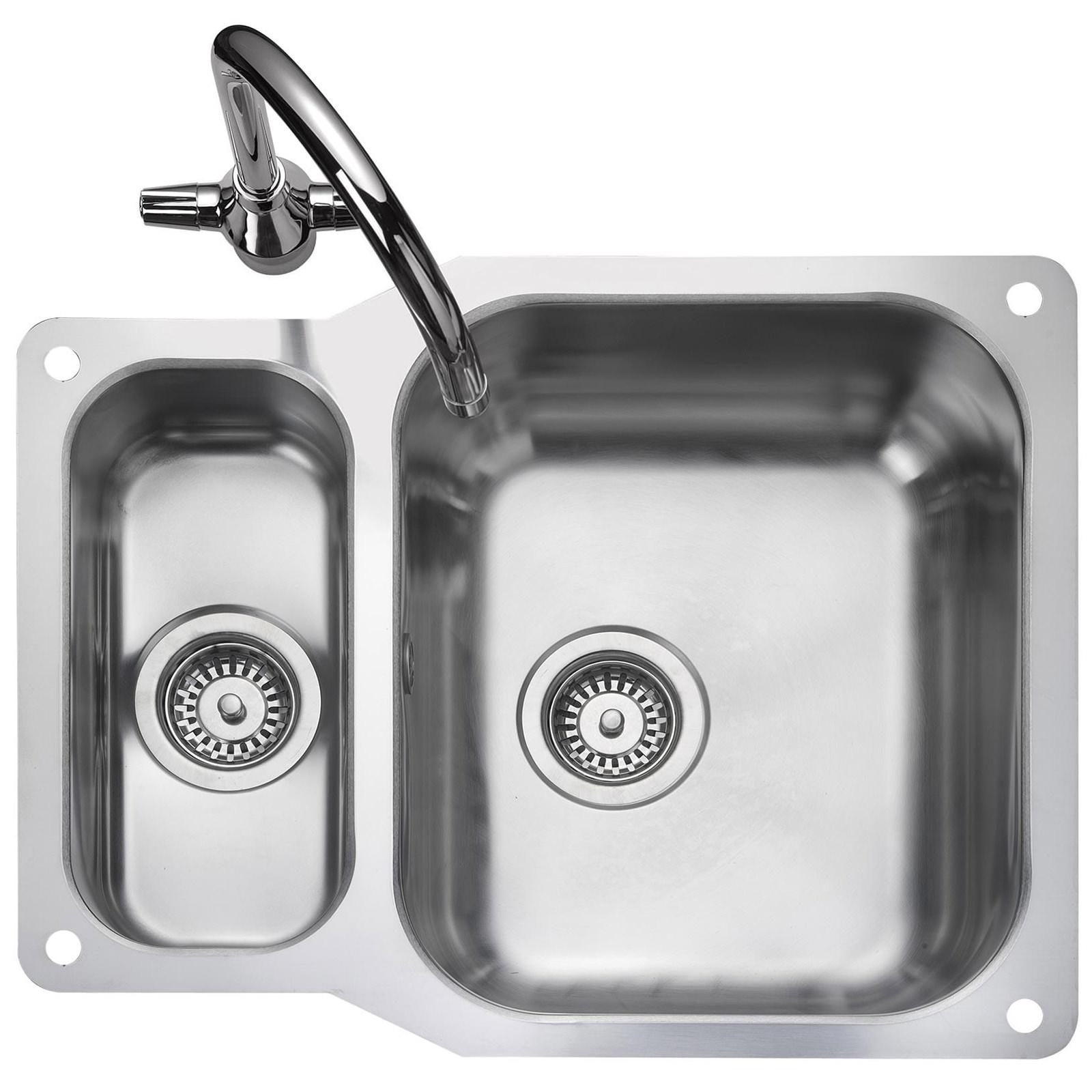 rangemaster atlantic classic 1 5 bowl undermount kitchen sink reversible