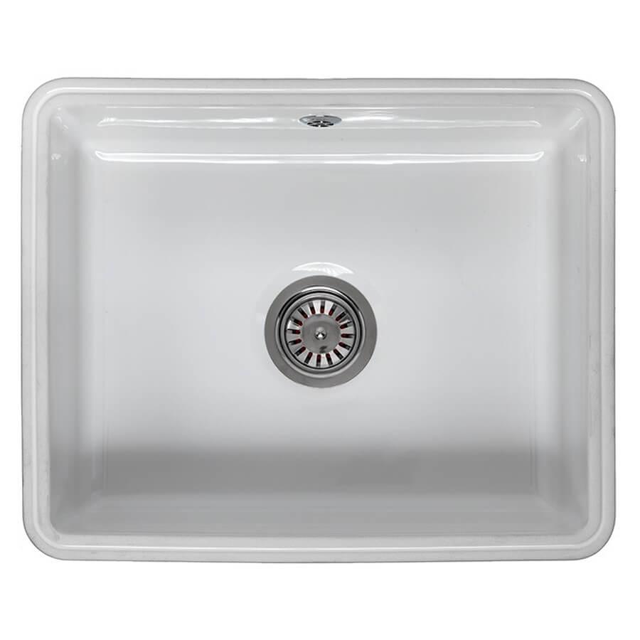reginox mataro single bowl ceramic undermount kitchen sink 545 x 440mm