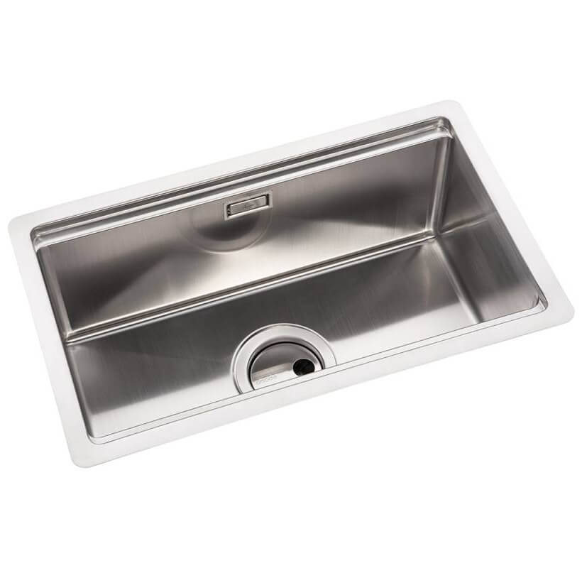 abode studio compact stainless steel 1 0 kitchen sink bowl