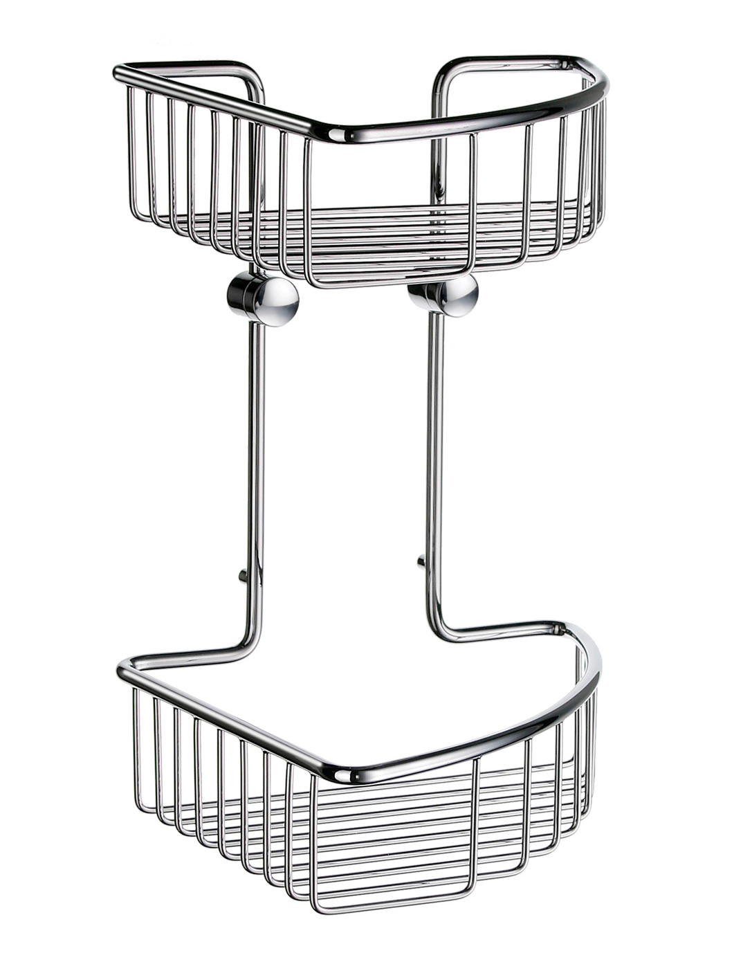Smedbo Sideline Soap Basket Corner 2 Level 207 X 207mm