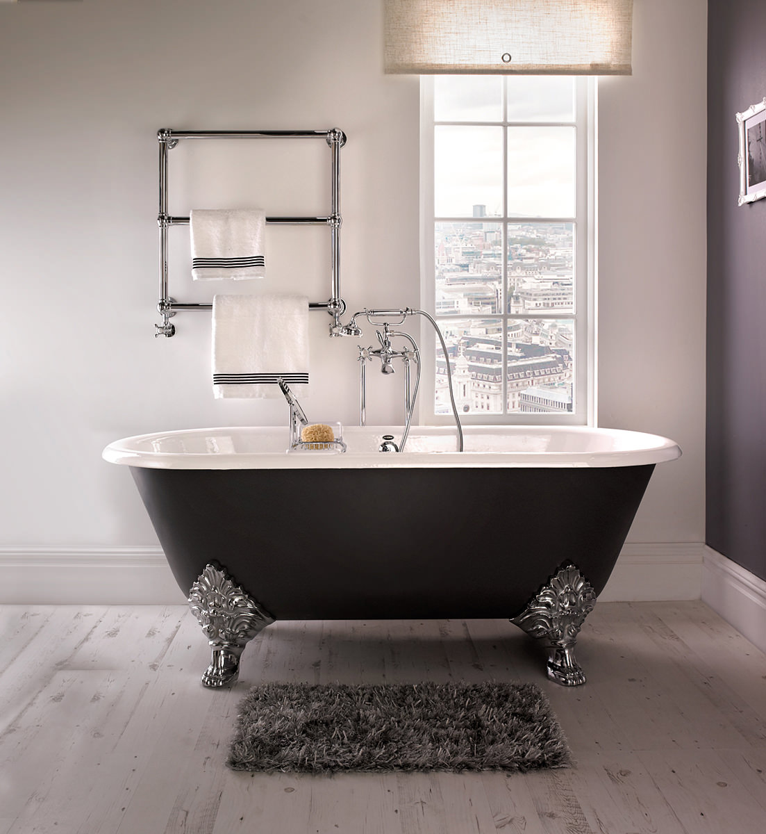 Imperial Roseland 1780mm Cast Iron Bath With Feet Zci000109s