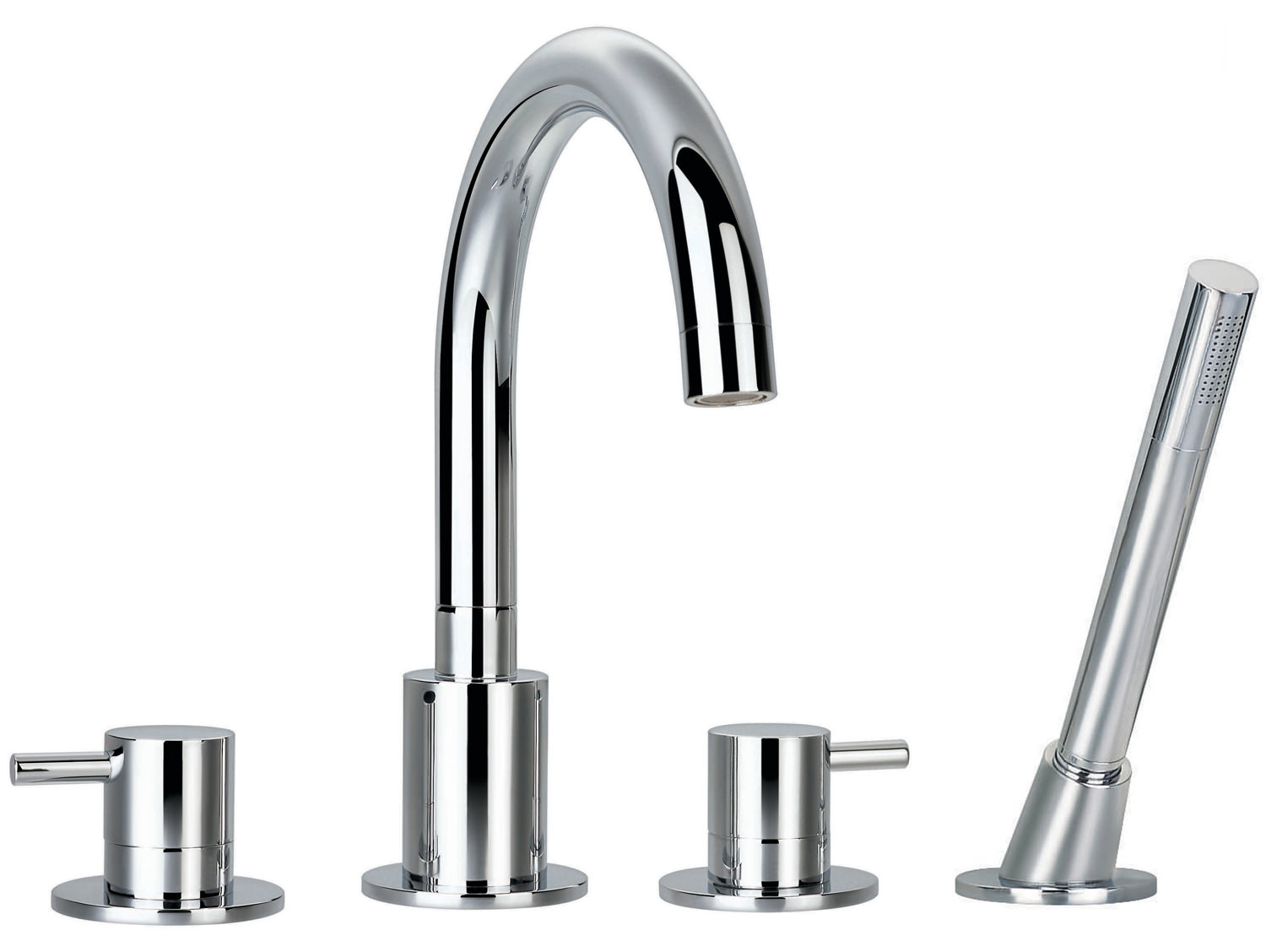 Flova Levo 4 Hole Bath Shower Mixer Tap With Handset And