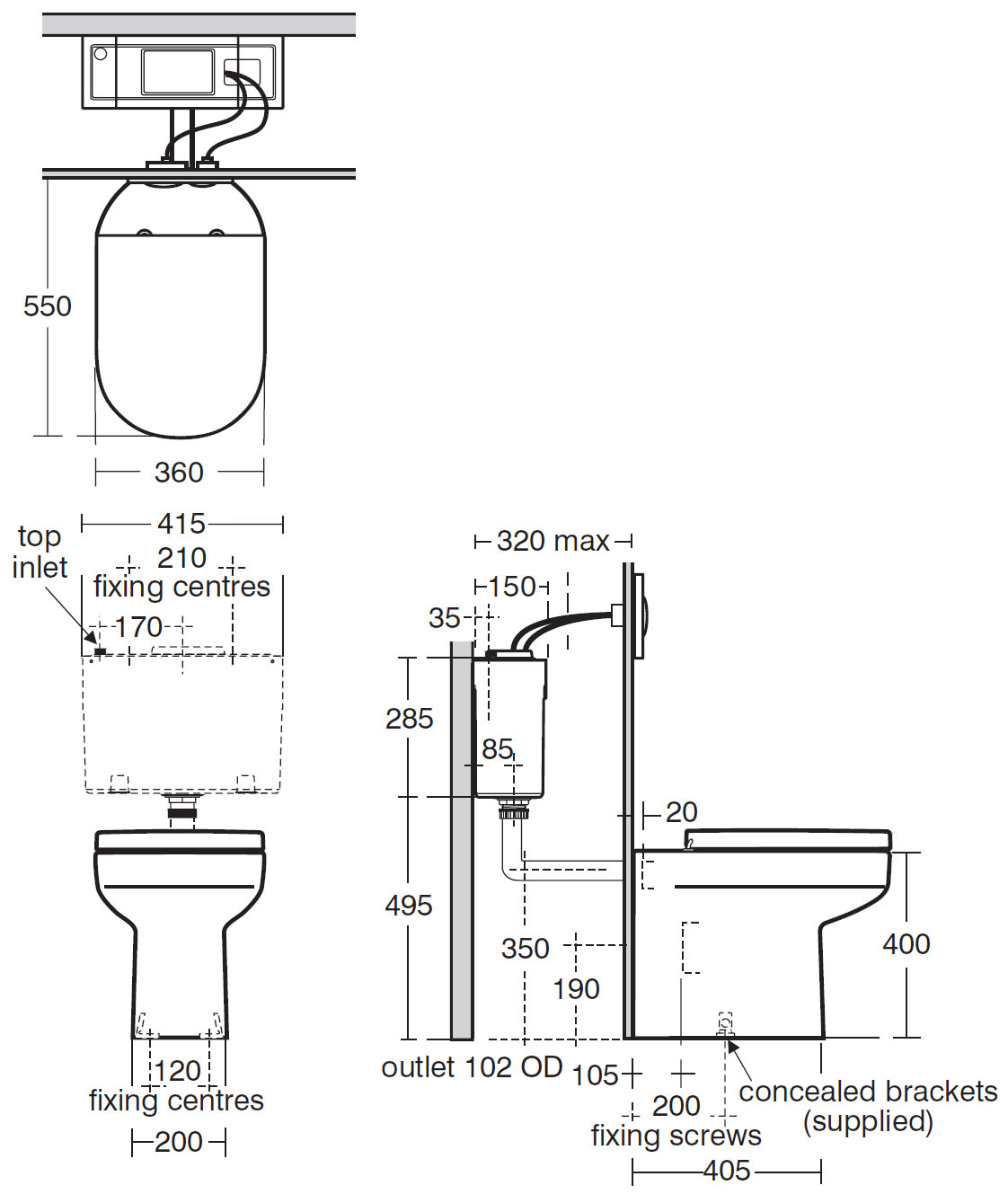 Ideal Standard Playa Back To Wall Wc Pan With Horizontal