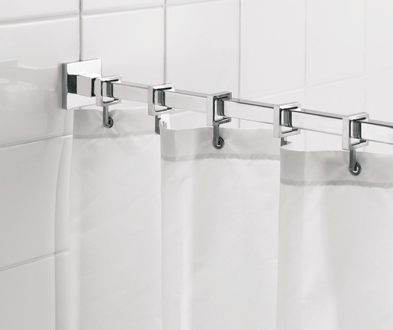 croydex luxury shower curtain rail rod