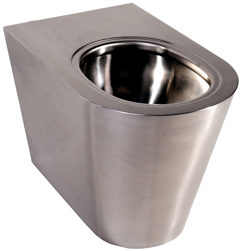 Twyford Stainless Steel Floor Standing Back To Wall WC Pan