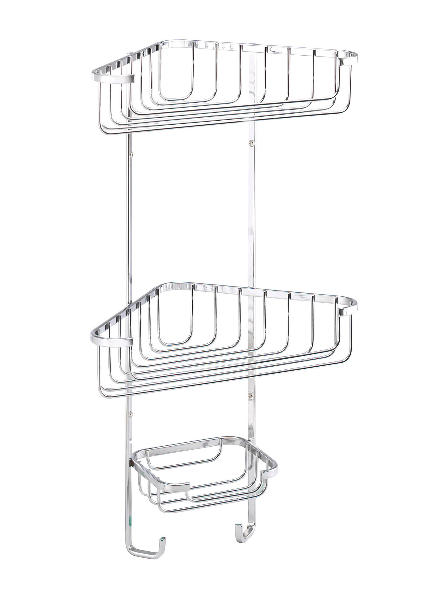 Croydex Wire Storage Three Tier Corner Basket