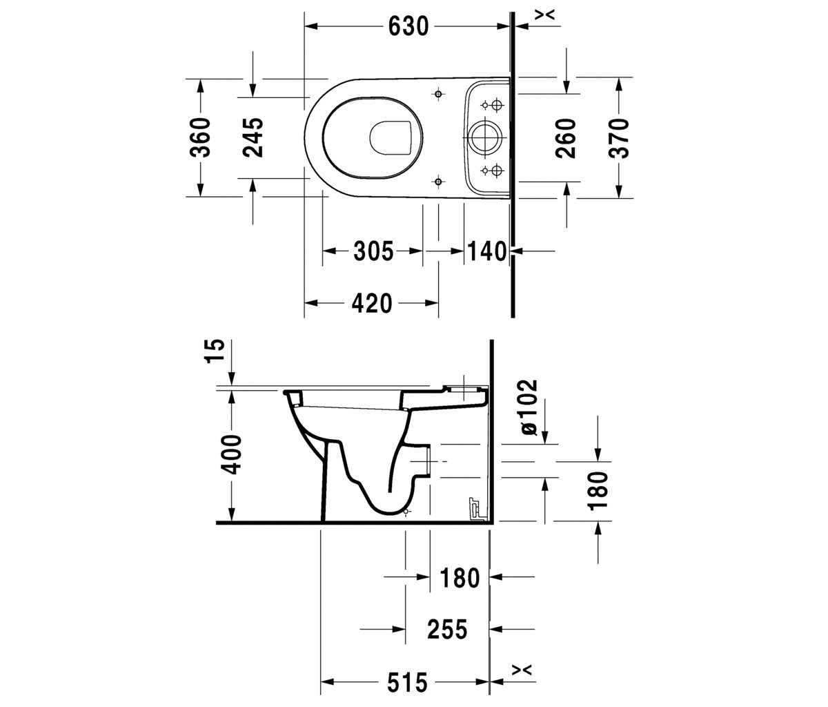 Duravit Darling New Close Coupled Toilet With Cistern