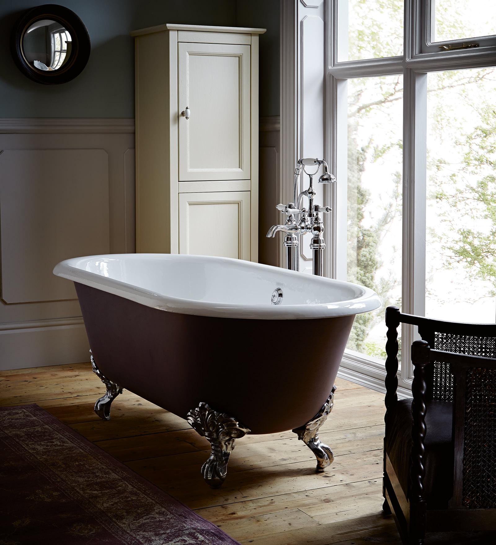 Heritage Baby Buckingham Cast Iron Roll Top Bath With Feet