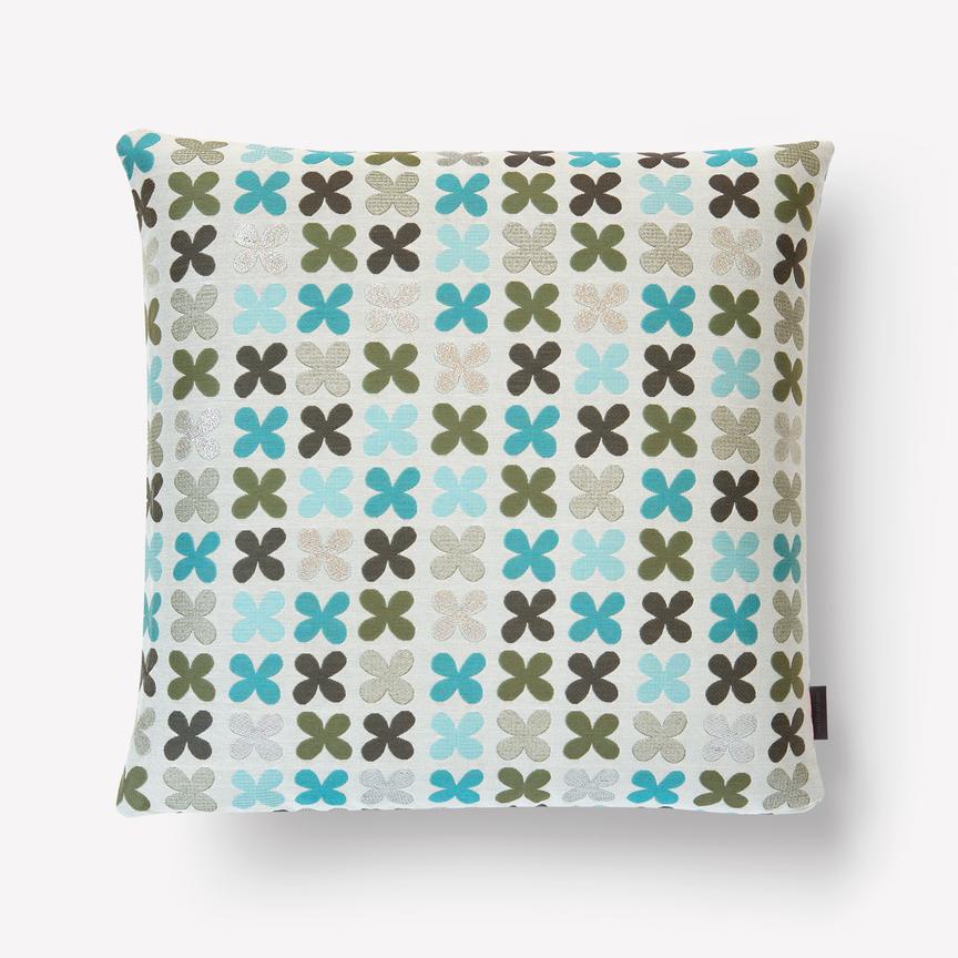 pillows quatrefoil pillow 001 silver