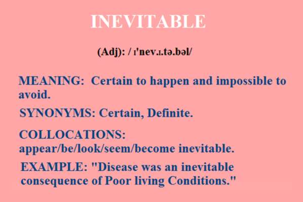 Daily One Word Learning Inevitable