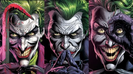 Click through for a closer look at Batman: Three Jokers, as the Dark Knight hunts down three different versions of his most deadly nemesis.