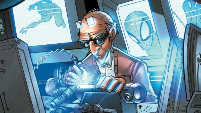 The Tinkerer is a villain who prefers to avoid getting his hands dirty. Rather than directly commit crimes, Phineas Mason uses his engineering talent to create weapons for other villains. It's certainly a lucrative business.