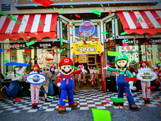 Pictures from the press day grand opening for the Mario Cafe at Super Nintendo World Universal Studios Japan. Photo credit: @psthatsme (https://twitter.com/psthatsme)