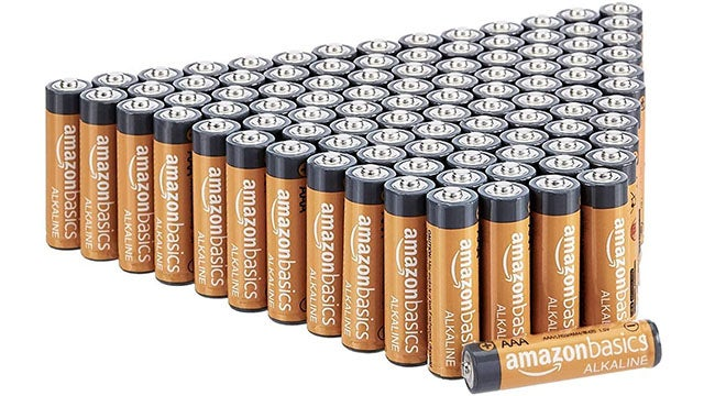 Amazon Basics 100 Pack AAA High-Performance Alkaline Batteries