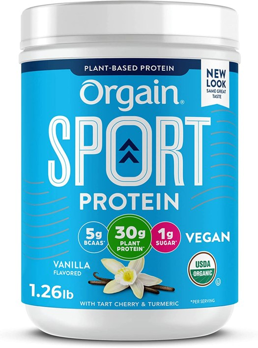 Orgain Vanilla Sport Plant-Based Protein Powder