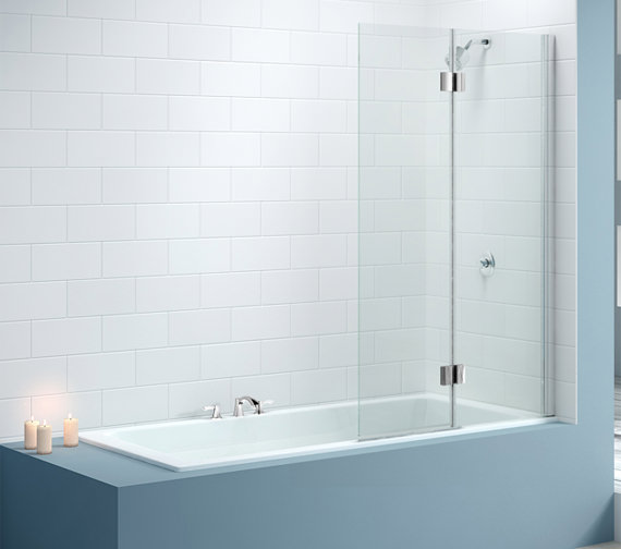 Merlyn 2 Panel Hinged Bath Screen 900 X 1500mm MB7L