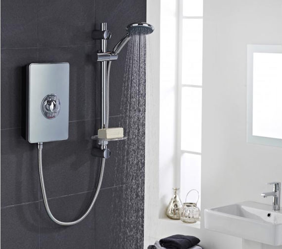 Vado Elegance Metallic And Chrome Electric Shower 9 5kw