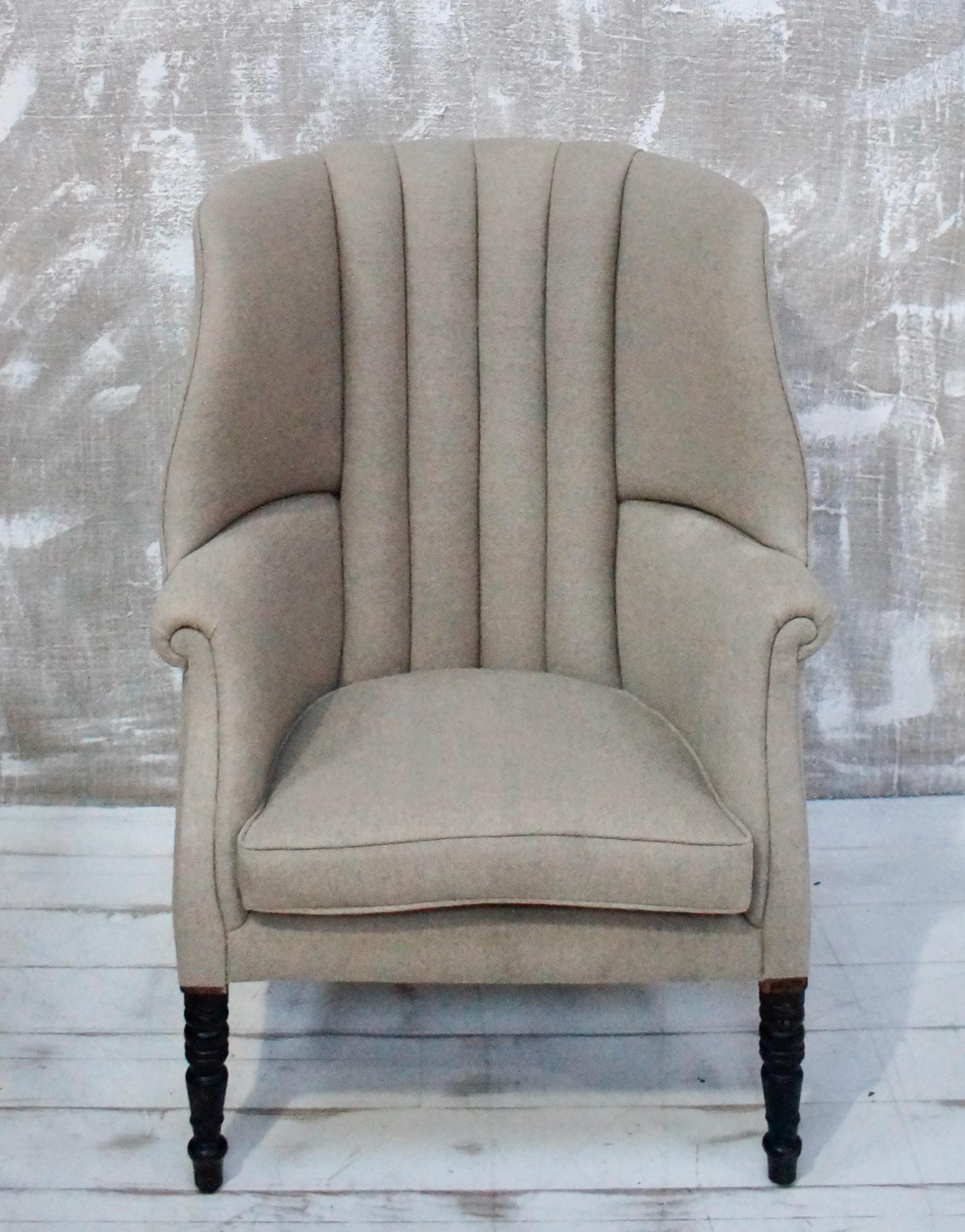 English Georgian Barrel Backed Wing Chair Vinterior