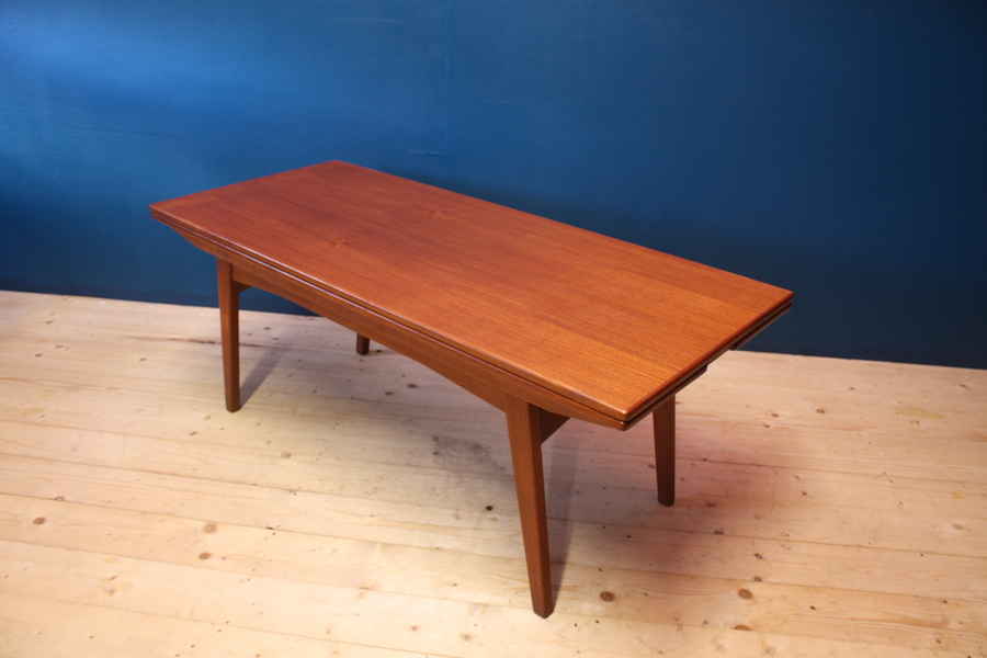 danish mid century metamorphic teak coffee table low dining table retro vintage 60s vinterior