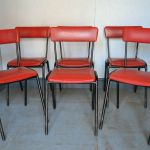 Six Vintage Tubular Stackable Chairs