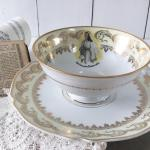 China Tea Cup Saucer Marcel Chaufriasse French Vintage Limoges Breakfast French Antique Cup Antique White Gold Bone China Communion Gift Vinterior