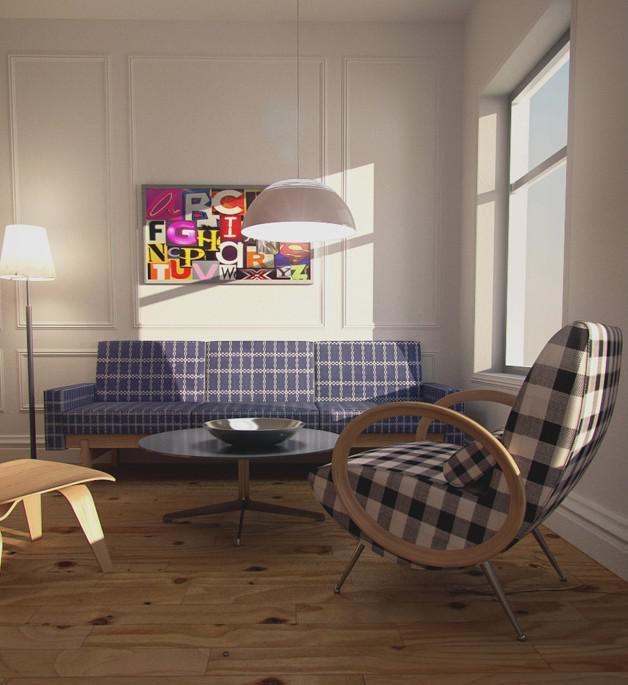 sunset lighting interior in v ray