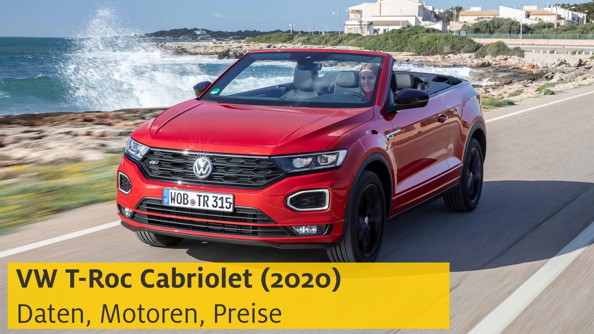 Vw T Roc Cabriolet 2020 Infos Und Preise Zum Offenen Suv Adac