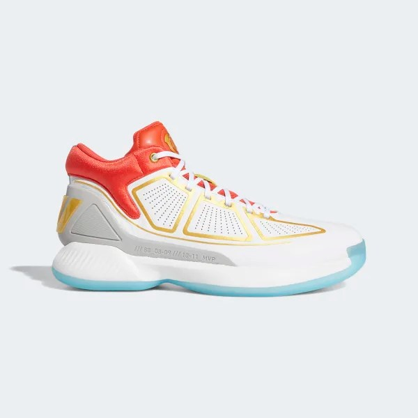 D Rose 10 Cloud White / Gold Metallic / Bright Red G26160