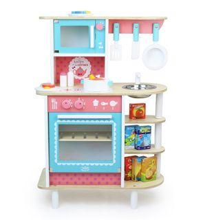 Avis Alinea Au Temps Des Cerises Cuisine En Bois H80cm Pour Enfant Rose Alinea