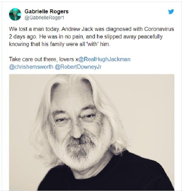 L'acteur de Star Wars, Andrew Jack, meurt du coronavirus