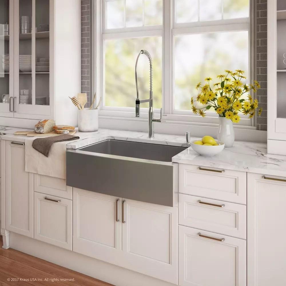 Kraus KHF20033165041CH 33 Inch Apron Front Kitchen Sink