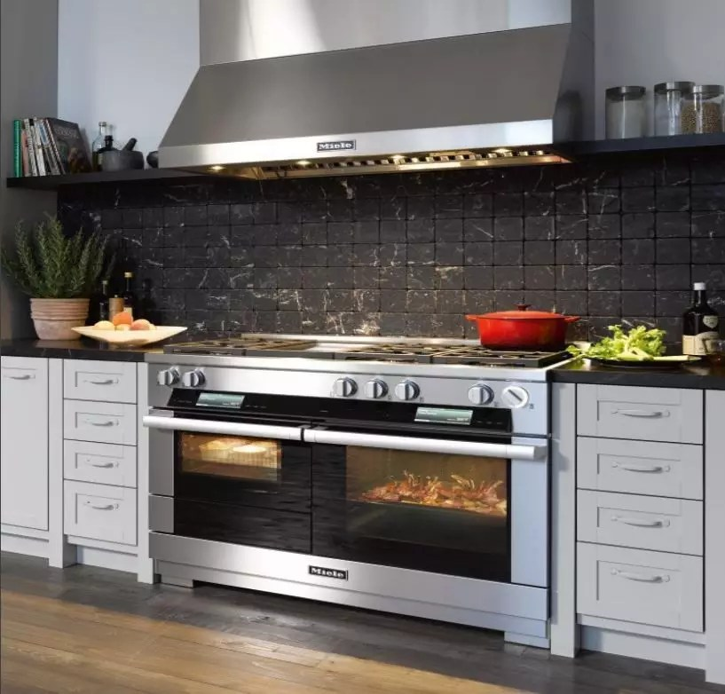 Miele HR1956DFGD 48 Inch Pro Style Dual Fuel Range With TwinPower Convection MasterChef