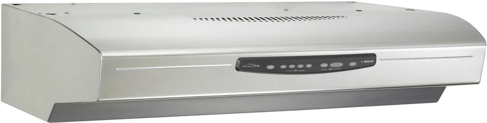 Broan Qs336ss 36 Inch Under Cabinet Range Hood With 430 Cfm Internal Blower Four Speed Electronic Control Dishwasher Safe Filters And Three Level Light Settings