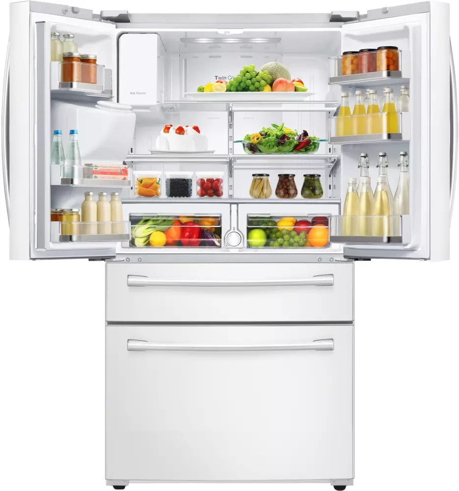 RF28HMEDBWW Samsung White 36 French Door Refrigerator W