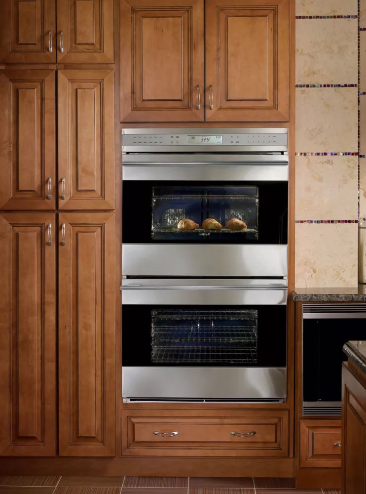 Wolf DO302USTH 30 Inch Double Electric Wall Oven With 45 Cu Ft Dual Convection Ovens Self