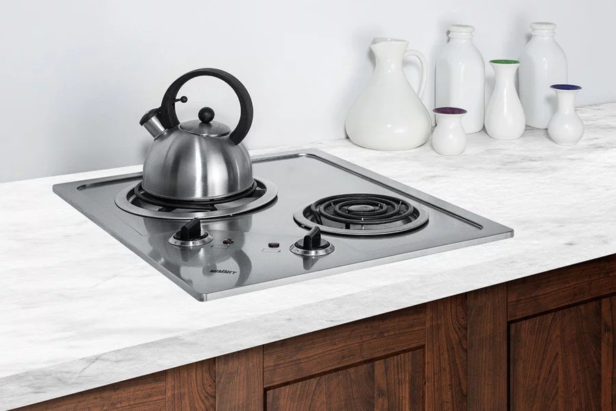 Summit CR2B122 21 Inch Electric Cooktop With 2 Heating