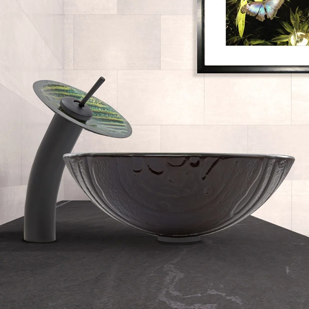 Waterfall Vessel Faucet Combinations
