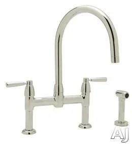 cast spout bridge kitchen faucet