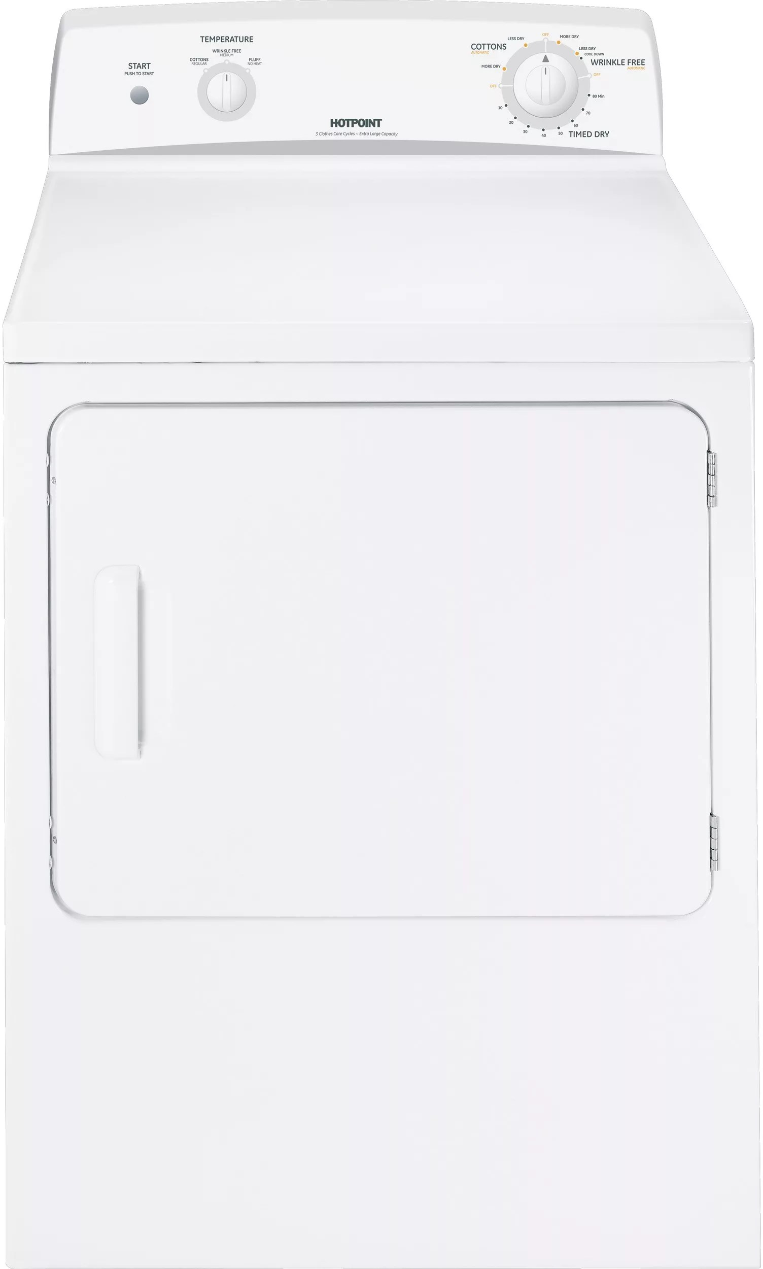 Hotpoint Htdx100emww 27 Inch Electric Dryer With 6 0 Cu