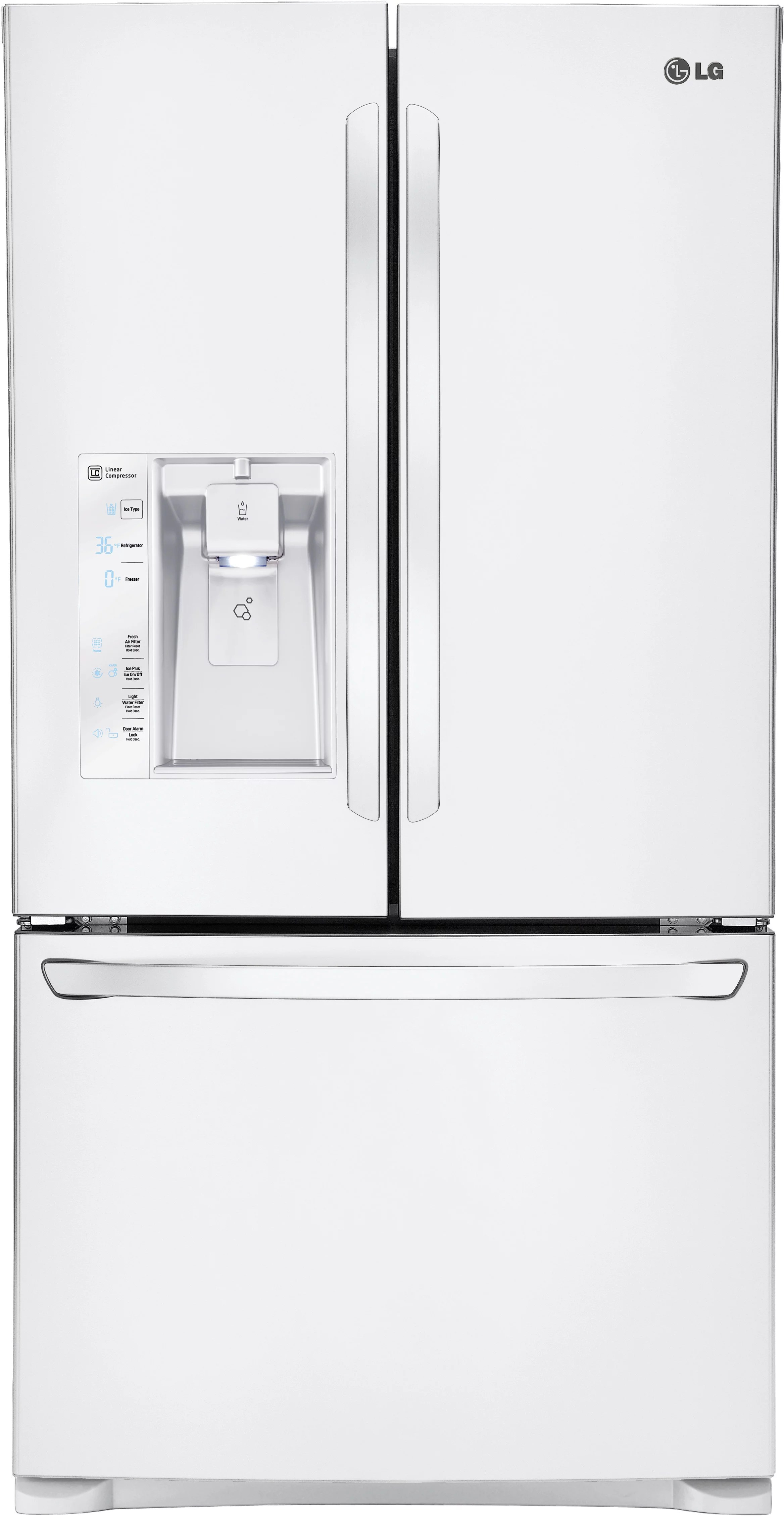 Lg Lfxs W 36 Inch French Door Refrigerator With Smart