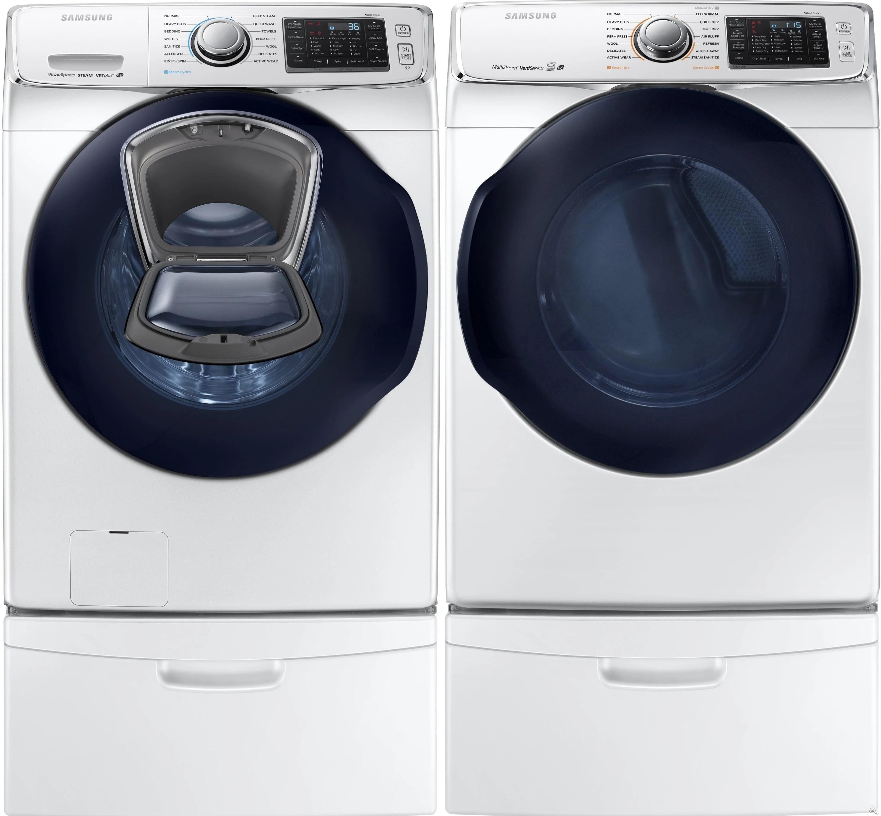 Samsung Sawadrgw17 Side By Side On Pedestals Washer