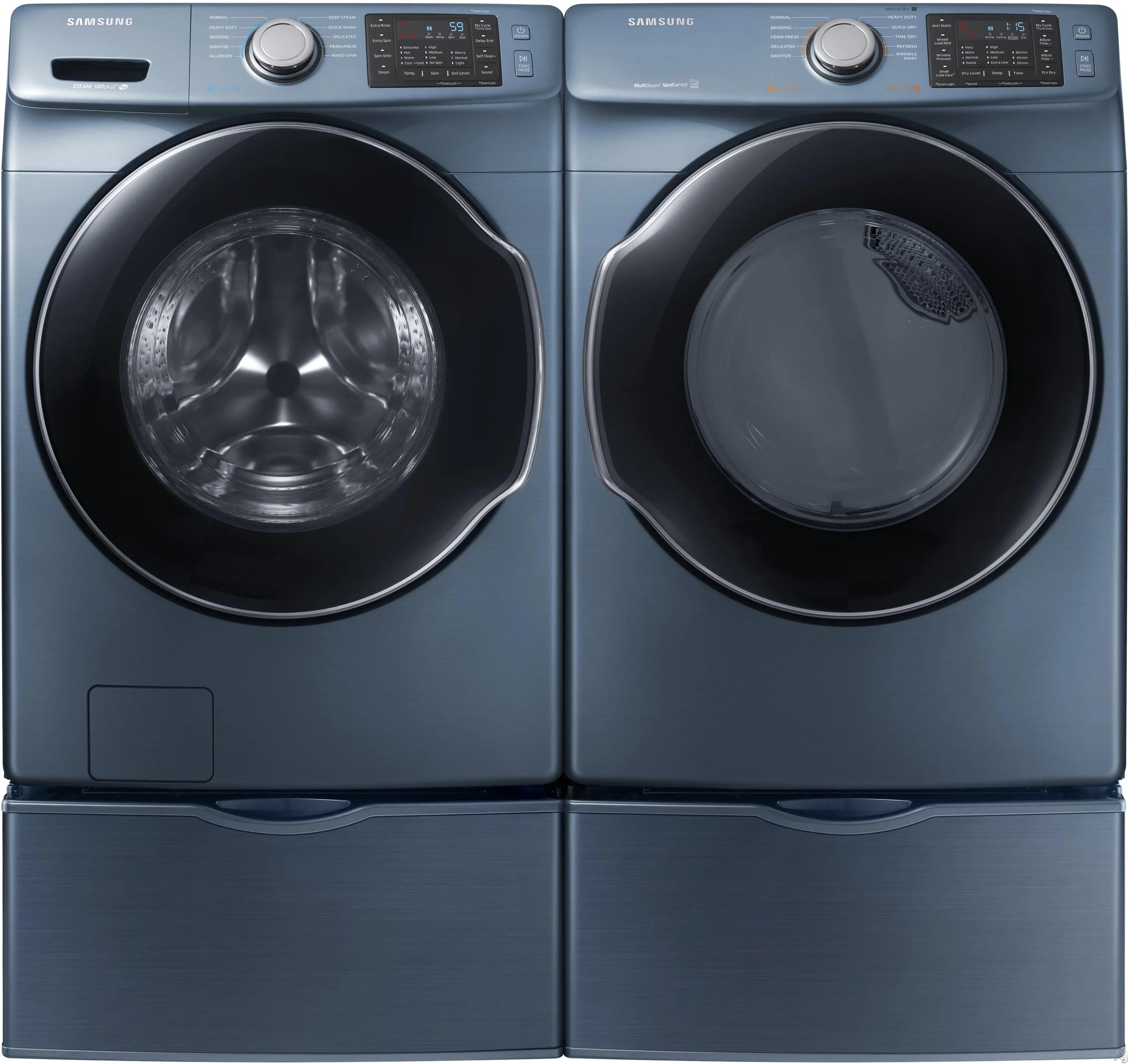 Samsung Sawadrebl23 Side By Side On Pedestals Washer