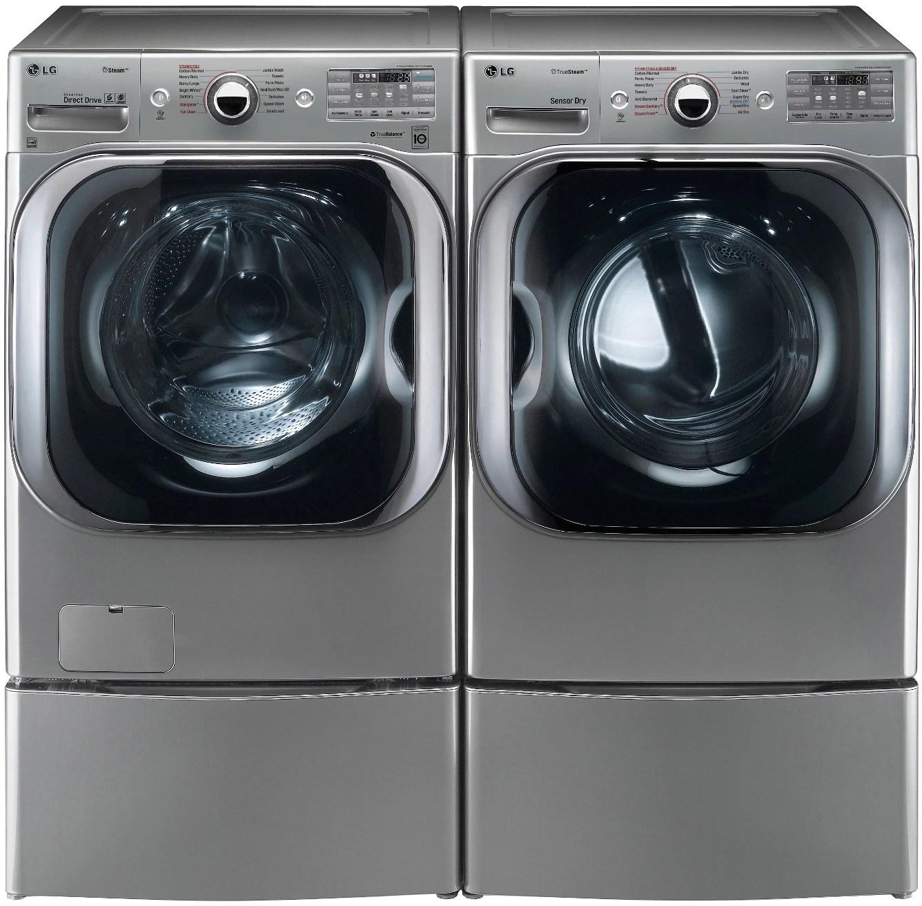 Lg Lgwadrew Side By Side On Pedestals Washer Amp Dryer