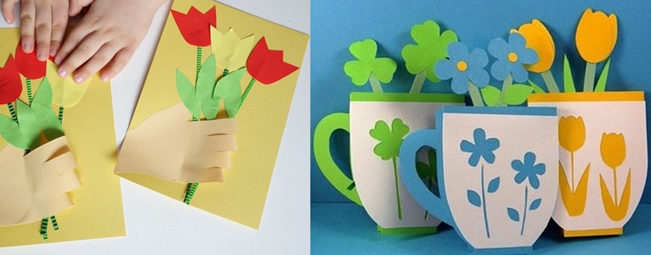 Как сделать оригинальную открытку на 8 марта маме и бабушке