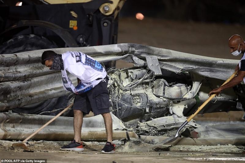 أول فيديو لـ رومان جروجان بعد نجاته من حادث الموت في سباق F1 3