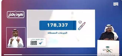 فيديو.. متحدث الصحة: تلقي 178,337 جرعة من لقاح كورونا