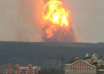 لحظة انفجار بمستودع ذخيرة في كازاخستان وإصابة 60 شخصًا